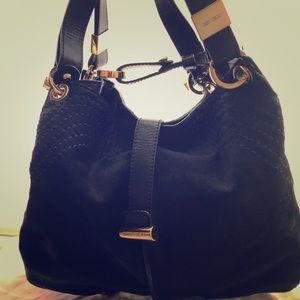 True Black Calf skin gorgeous shoulder bag
